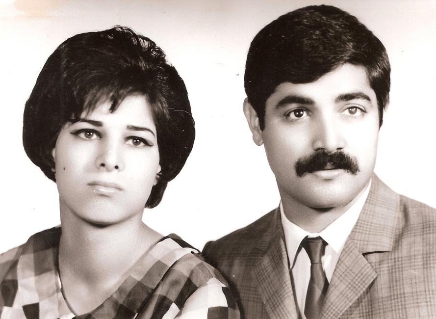 عکس قدیمی دکتر قدمعلی سرامی همراه با همسر ایشان سلطنت عباسپور بهبهانی