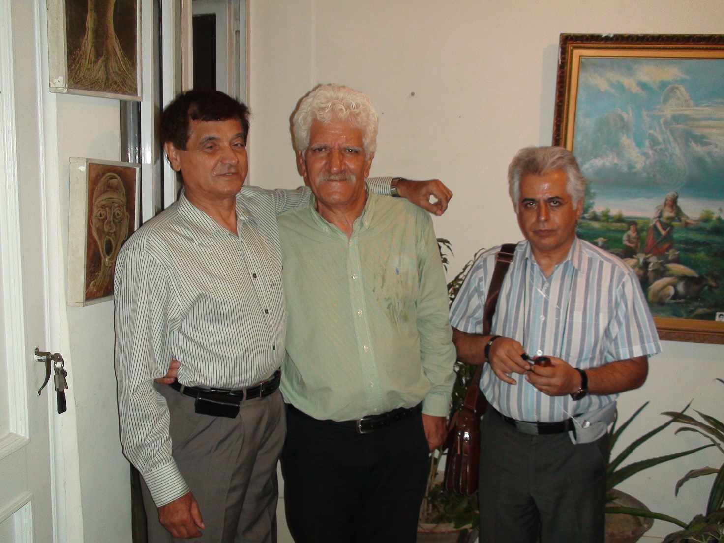 از چپ به راست: قدمعلی سرامی - محمد ابراهیمیان - رضا عقدایی